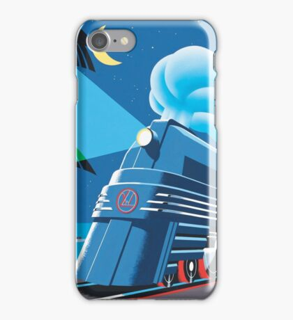 French Riviera Classic Vintage Train Travel Poster iPhone Case/Skin