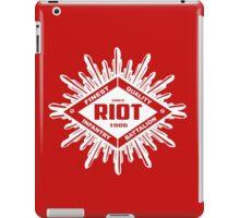 Riot White iPad Case/Skin