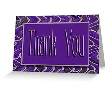Thank You purple Greeting Card