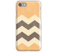Peach, Grey and Cream Chevron iPhone Case/Skin