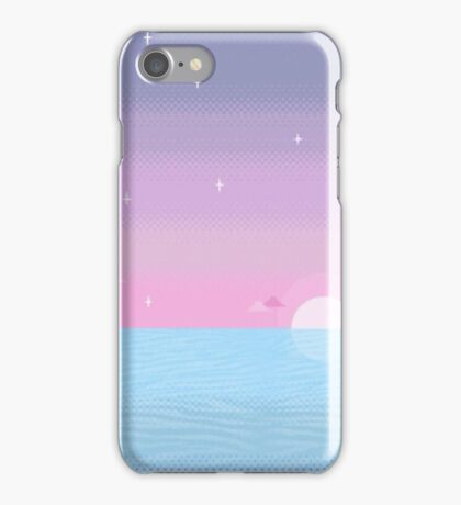 Pastel Pixel Sundown iPhone Case/Skin