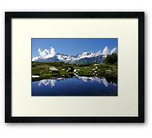 Mountain Lake Switzerland Framed Print