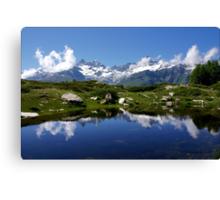 Mountain Lake Switzerland Canvas Print