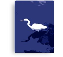 White Bird trawling Canvas Print