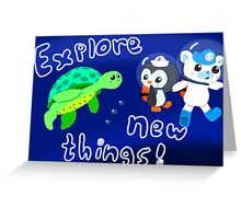 Explore, Rescue, Protect! Greeting Card