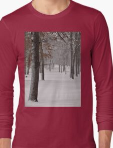 Snowy day in New York City  Long Sleeve T-Shirt