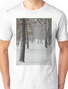 Snowy day in New York City  Unisex T-Shirt