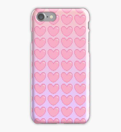 Pink to Purple Gradient Heart iPhone Case/Skin