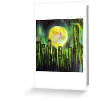 Sin City Lights Greeting Card