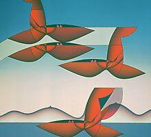 RK XXI, 2000, oil on board, 110 x110 by RENE KARI