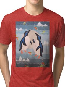 Penguin Pair Tri-blend T-Shirt
