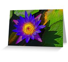 Electro Lilly Greeting Card