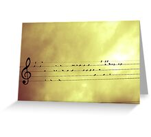 Music is Everywhere Greeting Card