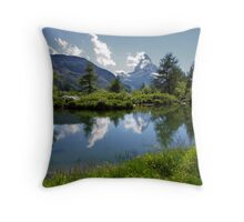 Matterhorn Reflections Throw Pillow