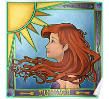 Play All Day In The Sun (Summer Nouveau) Poster