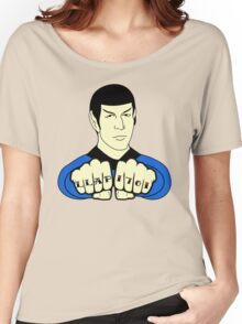 Spock Fist Tattoos Women's Relaxed Fit T-Shirt