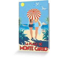 Classic Monte Carlo Vintage Travel Poster Greeting Card