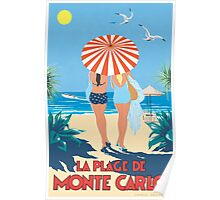 Classic Monte Carlo Vintage Travel Poster Poster