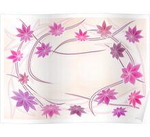 Floral frame   Poster