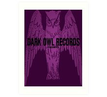 Dark Owl Records Art Print