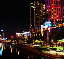 Fire In The Sky At Crown Casino  by photonet