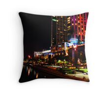 Fire In The Sky At Crown Casino  Throw Pillow