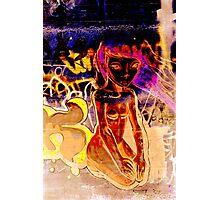 Girl on a Wall Photographic Print