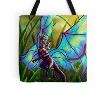 We Ride at Dawn - Mouse Warrior Riding Fairy Dragon Tote Bag