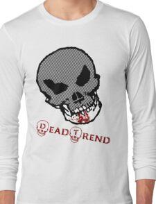 Dead Trend Evil Skull-Bloody Chin Long Sleeve T-Shirt