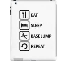 Base Jumping Eat Sleep Base Jump Repeat iPad Case/Skin