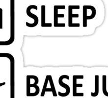 Base Jumping Eat Sleep Base Jump Repeat Sticker