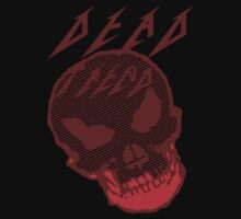 Dead Trend Evil Skull In Metallica Font- Red by RazorbladeTrend