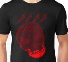 Dead Trend Evil Skull In Metallica Font- Red Unisex T-Shirt