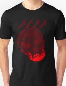 Dead Trend Evil Skull In Metallica Font- Red T-Shirt