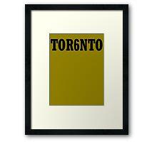 TOR6NTO [Black] Framed Print