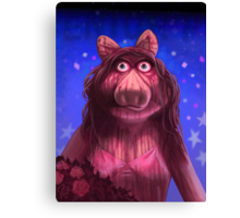 Muppet Maniacs - Ms. Piggy as Carrie Canvas Print