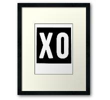 XO Square [Black] Framed Print