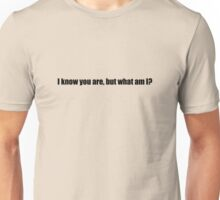 Pee-Wee Herman - I Know You Are But - Black Font Unisex T-Shirt