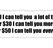 Pee-Wee Herman - For $20 I Can Tell You - Black Font Sticker