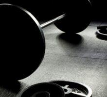 Olympic Weight Training in Dark Shadow Sticker