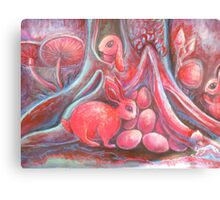 blood moon easter rabbits Canvas Print