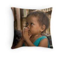 Boy at Little Angel's Orphanage Throw Pillow