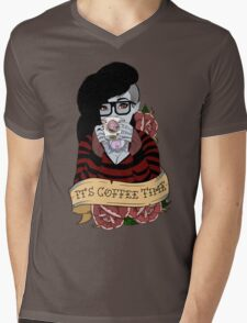 Adventure Time - It's Coffee Time (Marceline) Mens V-Neck T-Shirt