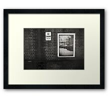 No Standing .... Blackwattle Bay close up Framed Print