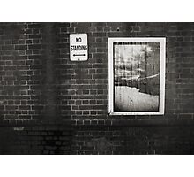 No Standing .... Blackwattle Bay close up Photographic Print