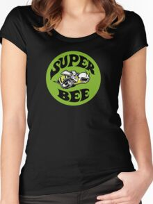 Superbee (green background) Women's Fitted Scoop T-Shirt
