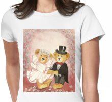 WEDDING TEDDYBEARS - A ROMANTIC DREAM CLASSICAL MARRIAGE - Watercolour-Design Womens Fitted T-Shirt