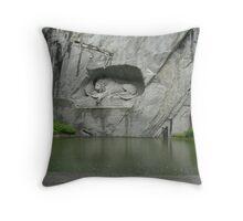 The Mighty Falls - Grey Image(2) - on Tour Europe Throw Pillow