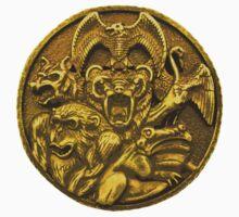 Mighty Morphin Power Rangers Ninja Megazord Coin Baby Tee