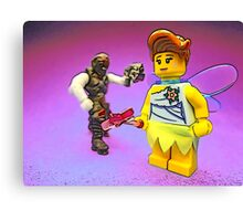 Don't mess with the fairies!! Canvas Print
